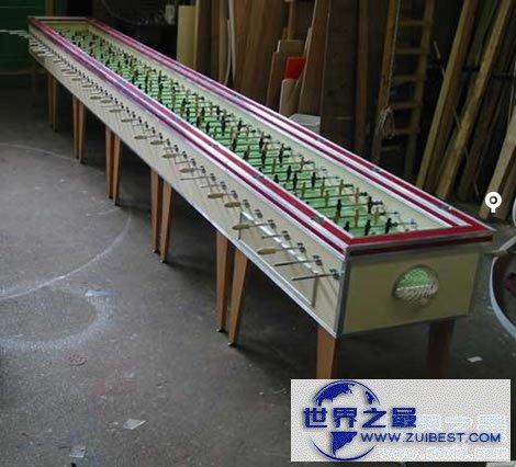 【图】世界上最长的Foosball桌式足球
