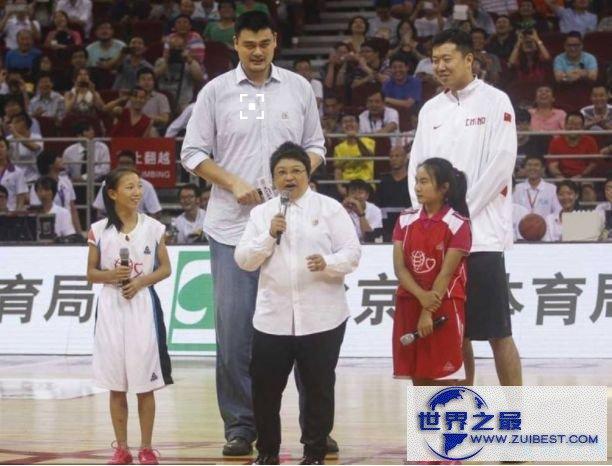 NBA历史上最高的球员:姚明 2.26米