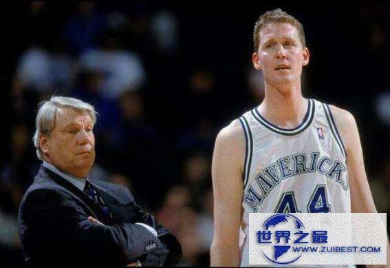 NBA历史上最高的球员:肖恩·布拉德利 2.29米