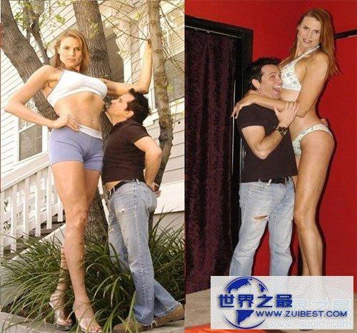 【图】世界上最高的女模特,我们都是小人(2.15米)