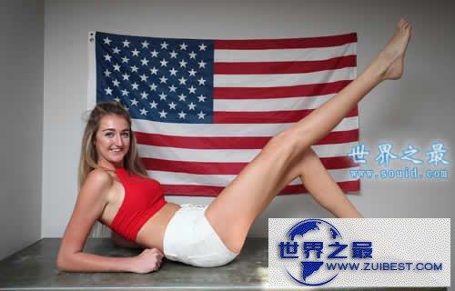 【图】20岁姑娘打破美国长腿纪录,腿长1.257米