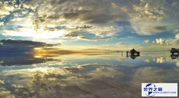 世界上最大的盐滩 维多利亚的天空之镜