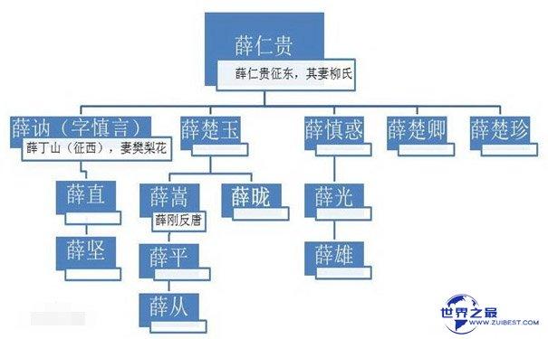 薛仁贵族谱