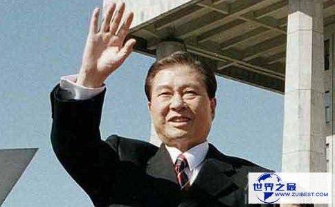 韩国前总统金大中的照片