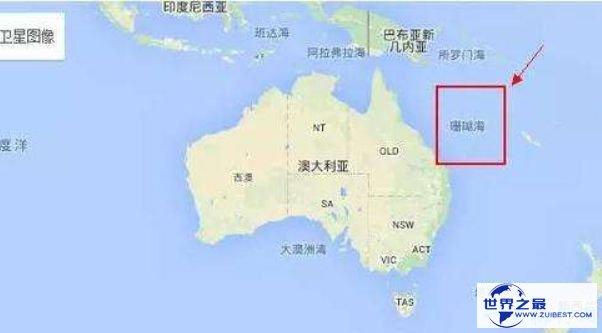世界上最大的海 相当于半个中国海洋面积的珊瑚海