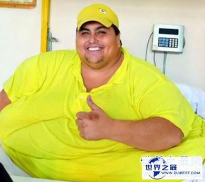 【图】世界第一胖体重高达10多个一般成人的分量