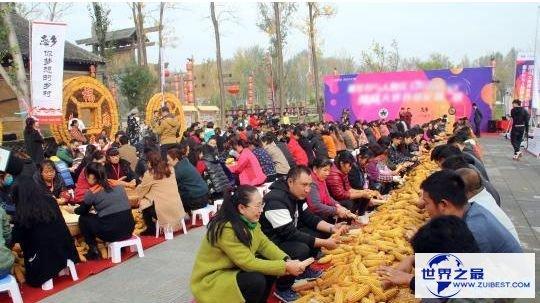 200余人一同搓玉米 创上海大世界基尼斯之最记载