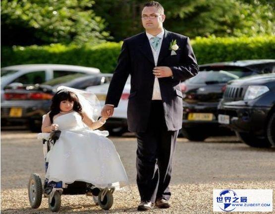 世界最小的新娘完婚 夫妻身高相差1.04米