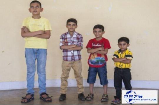 世界上最高的儿童卡兰·辛格,年仅5岁身高就达1.75米