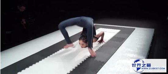 中国最柔软女孩 创胸着地翻腾行进20米用时最短吉尼斯记载