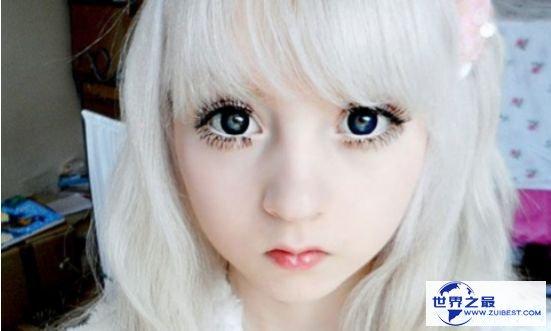 世界上最白的人 白化病萝莉维纳斯·巴勒莫