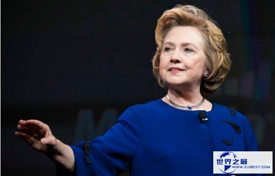 世界上权益最大的女人排名,美国前第一夫人希拉里排名第二