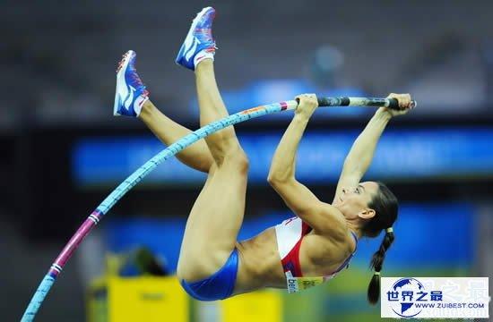 【图】撑杆跳世界纪录,男子6.16米/女子5.06米